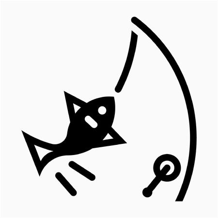 Glyph fishery pixel perfect vector icon