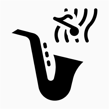 Glyph instrumentalist pixel perfect vector icon