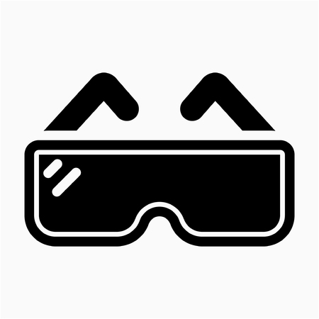 Glyph safety glasses pixel perfect vector icon