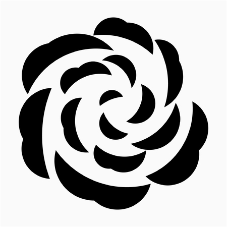 glyph rose flower pixel perfect vector icon