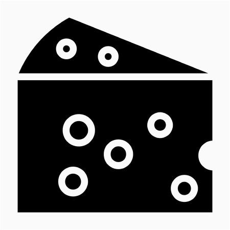 Glyph cheese pixel perfect vector icon Çizim