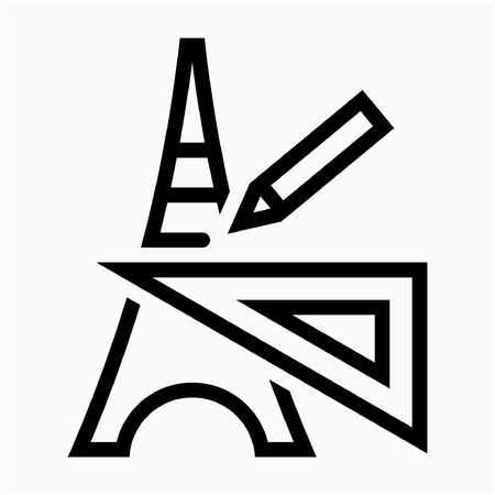 Outline Architect pixel perfect vector icon
