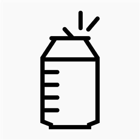 Outline beer pixel perfect vector icon