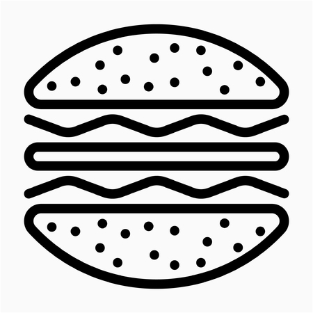Outline fast food pixel perfect vector icon