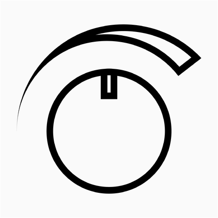 Outline cooker pixel perfect vector icon Ilustrace