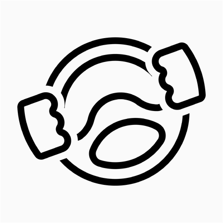 Outline Taxi driver pixel perfect vector icon Illustration