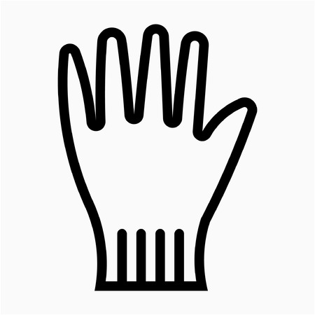 Outline safety glove pixel perfect vector icon