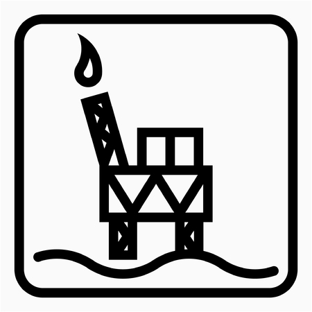 Outline Oil drilling industry pixel perfect vector icon Ilustrace