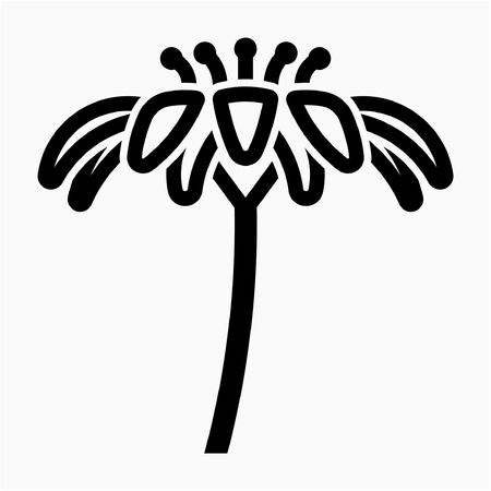 Outline daisy flower pixel perfect vector icon Ilustrace