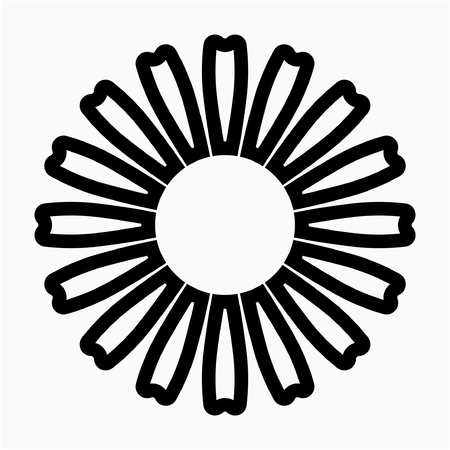 outline zinnia flower pixel perfect vector icon Ilustrace