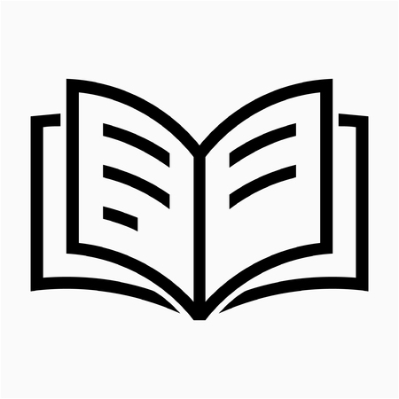Outline notebook pixel perfect vector icon