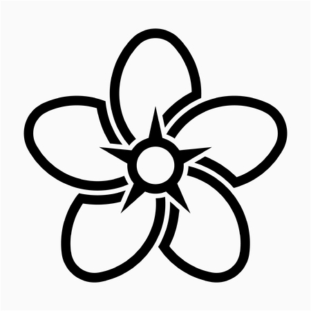 outline Forget me not flower pixel perfect vector icon