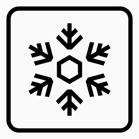 Outline Snow making industry pixel perfect vector icon Ilustrace