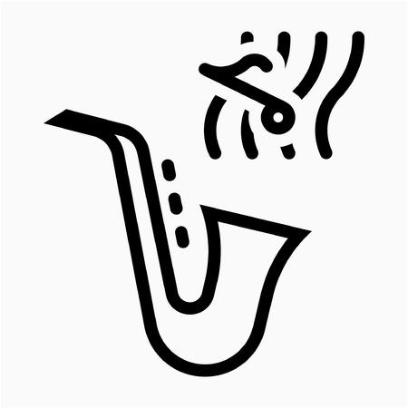 Outline instrumentalist pixel perfect vector icon