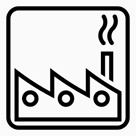 Outline General industry pixel perfect vector icon