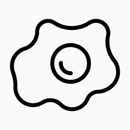 Outline omelet pixel perfect vector icon Stock Illustratie