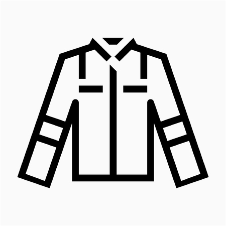 Outline labor clothing pixel perfect vector icon