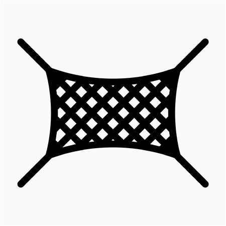 Outline safety net pixel perfect vector icon