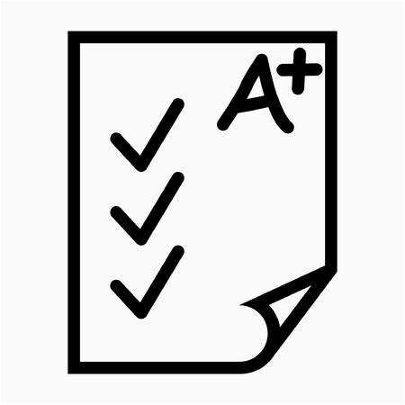 Outline examination pixel perfect vector icon Ilustrace