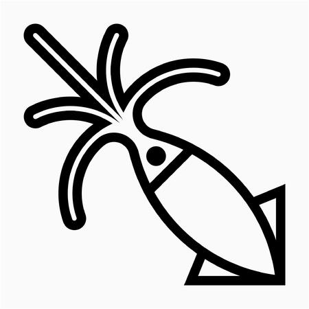 Outline Sea food vector icon Ilustrace