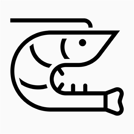 Outline seafood pixel perfect vector icon