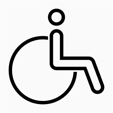 Outline wheelchair pixel perfect vector icon
