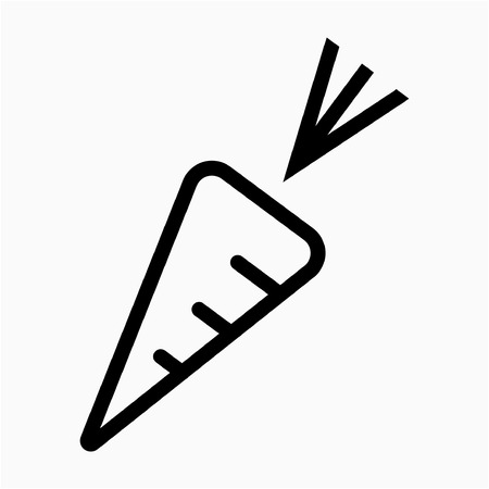 Outline Carrot pixel perfect vector icon Ilustrace