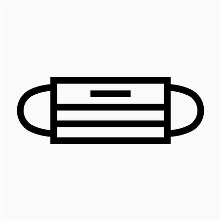 Icône de vecteur parfait pixel masque visage contour