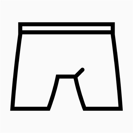 Outline boxer pixel perfect vector icon