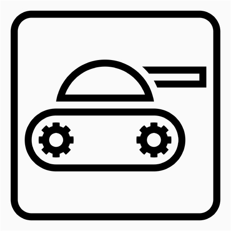 Outline Military industry pixel perfect vector icon