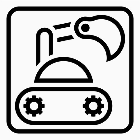 Outline Heavy industry pixel perfect vector icon Ilustrace