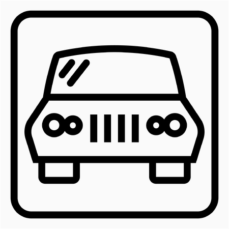 Outline Automotive Industry pixel perfect vector icon