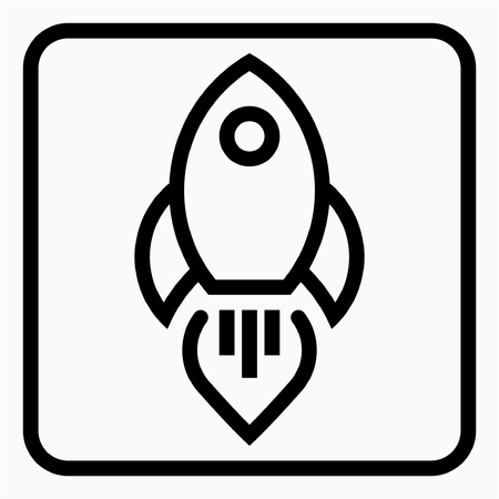 Outline aerospace industry pixel perfect vector icon Ilustrace