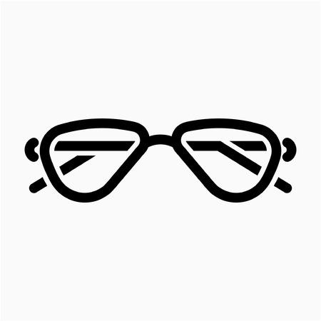 Outline sunglasses pixel perfect vector icon