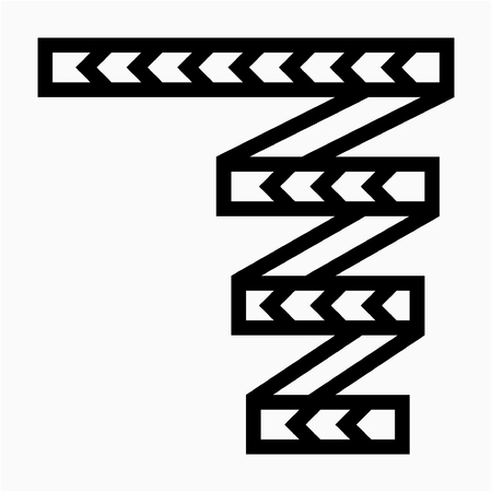 Outline Hazard tape pixel perfect vector icon Illustration