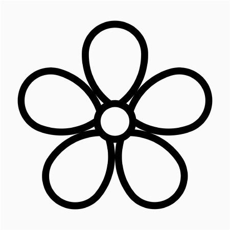 outline violet flower pixel perfect vector icon