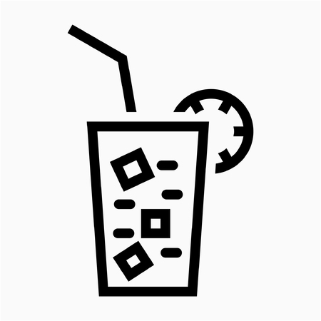 Outline lemon juice pixel perfect vector icon