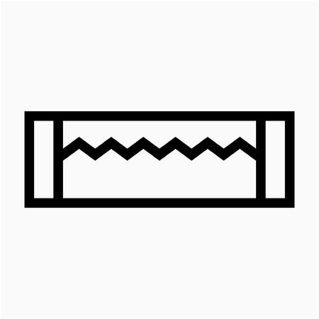 Outline Chew gum pixel perfect vector icon 일러스트