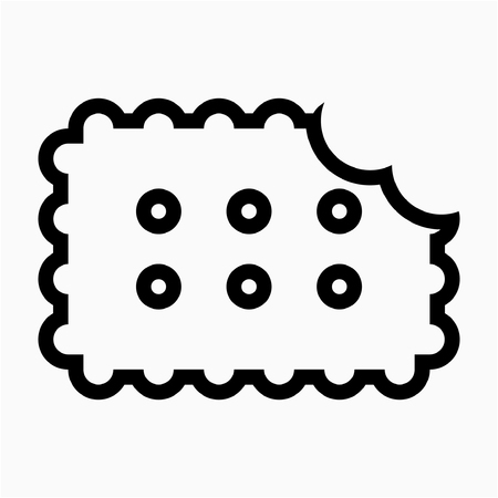 Outline biscuit pixel perfect vector icon Ilustrace