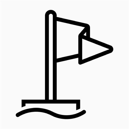 Outline safety flag pixel perfect vector icon Reklamní fotografie - 111941245