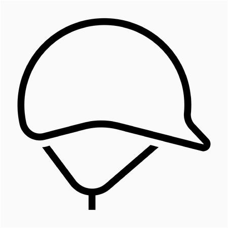 Outline safety helmet pixel perfect vector icon Reklamní fotografie - 111941246