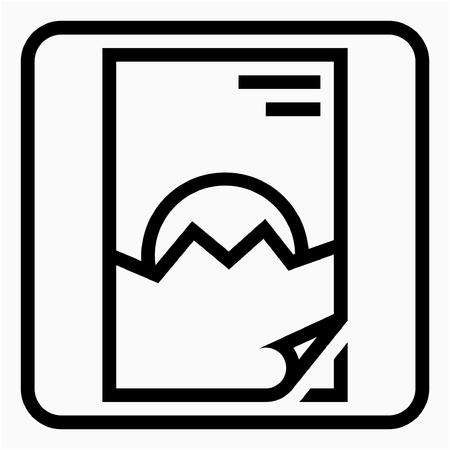 Outline paper industry pixel perfect vector icon