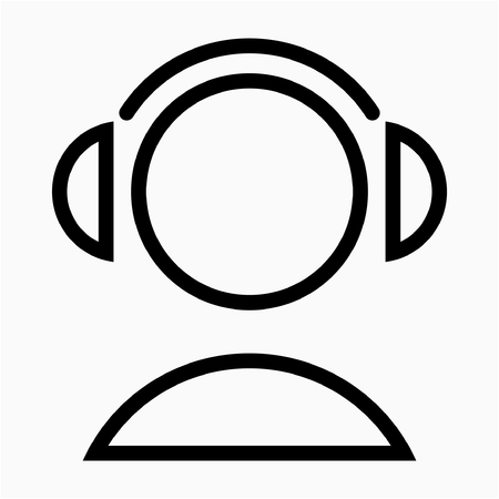 Outline listening lession pixel perfect vector icon