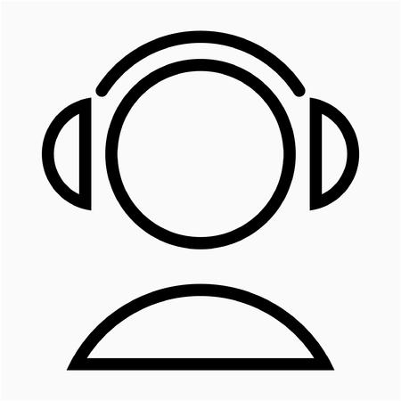 Outline listening lession pixel perfect vector icon Reklamní fotografie - 111941251