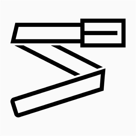 Outline belt pixel perfect vector icon