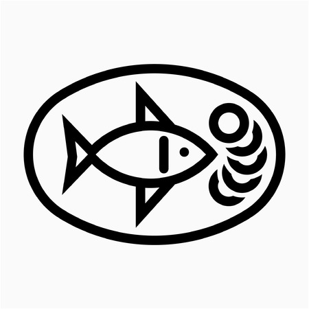 Outline Fish pixel perfect vector icon