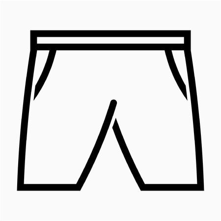Outline swim suit pixel perfect vector icon