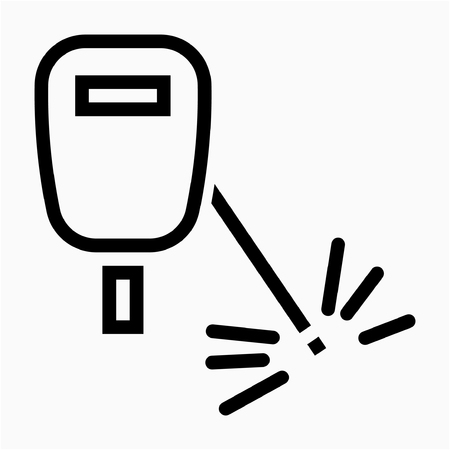 Outline welder pixel perfect vector icon