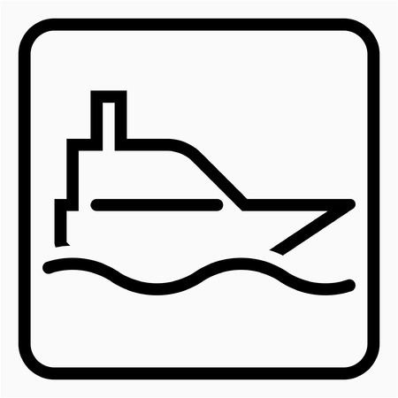 Outline Ship building pixel perfect vector icon Ilustrace