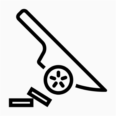 Outline chef pixel perfect vector icon Ilustrace